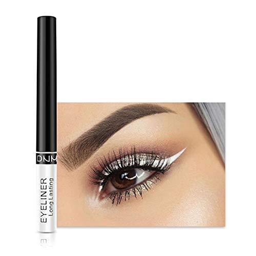 Allbestaye Bunt Matte Farbe Eyeliner Liquid Wasserfest Blau Lila Grün Weiß Braun Make-up Eye Liner