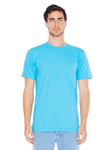 T-shirt à Manches Courtes en Coton Jersey Fin - Turquoise / 3XL