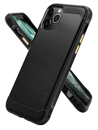Ringke Onyx Compatible with iPhone 11 Pro Max Case, Tough Rugged Durable Shockproof TPU Grip Phone Back Cover - Black