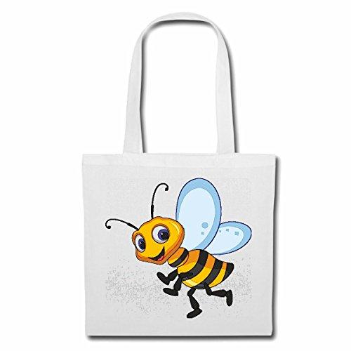 Tasche Umhängetasche FRÖHLICHE Biene WESPE WESPE Honig FALTENWESPEN HORNISSE Einkaufstasche Schulbeutel Turnbeutel in Weiß