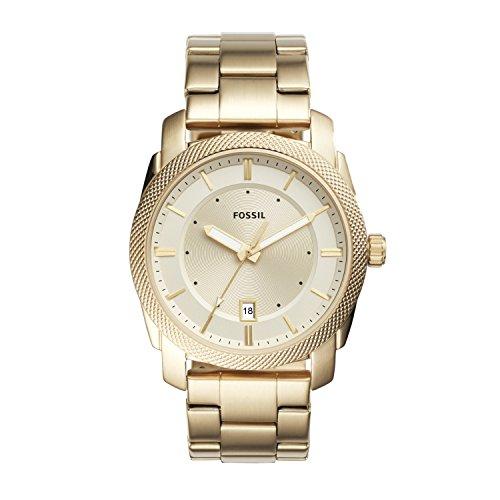 Fossil Herren Analog Quarz Uhr mit Edelstahl Armband FS5264