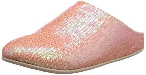 Fitflop Damen Chrissie Sequin Pantoffeln, Pink (Iridescent Pink 762), 41 EU