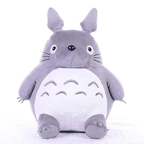 Boufery Totoro Peluches Suave, Cojín de Almohada de Dibujos Animados de Animales de Peluche, Lindo Gato Gordo Chinchillas Niños Cumpleaños Navidad