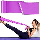 Bande Elastiche Fitness, 1,8 m Fasce Elastiche, Fascia Elastica Esercizi Ideale per Yoga, Pilates, Allenamento di Forza e Flessibilità(Viola)