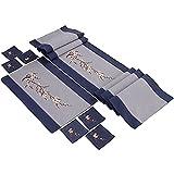 xiaopang Mantel de poliéster rectangular mantel 3D floral cubierta de mesa para decoración de comedor de fiesta White30*230cm
