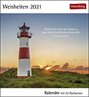 Weisheiten 2021: Kalender mit 53 Postkarten