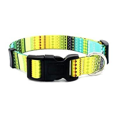 Cozilanz Dog Collar Floral Print Adjustable Buckle Pet Soft Collar for Small, Medium, Large Dog,Girls Female Dog (1#, S)
