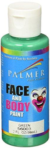 Palmer 56003-36 Face & Body Paint, 2 oz, Green