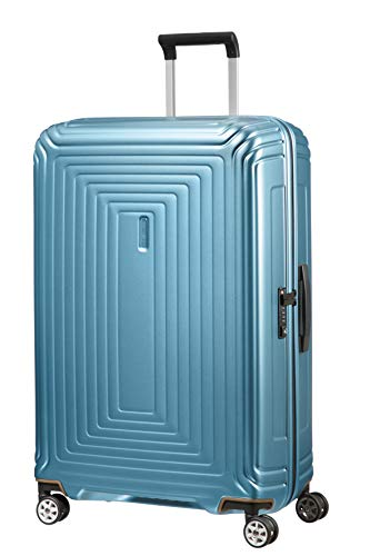 Samsonite Neopulse - Spinner L Koffer, 75 cm, 94 L, Blau (Matte Ice Blue)