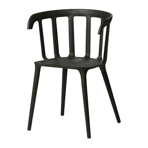IKEA IKEA PS 2012 -Stuhl mit Armlehnen schwarz