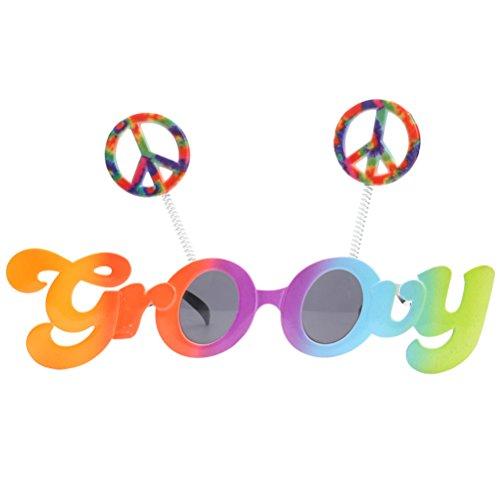luoem novedad gafas de sol signos Groovy Funny gafas con lentes de color gris fiesta disfraz infantil de Cosplay accesorios