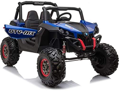 fit4form Kinder Elektroauto Blue Monster UTV 4x4 Allrad Off Road 24V Kinderfahrzeug Kinderauto elektrisch