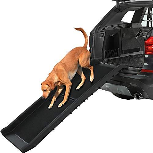 Estrella-L Extra lange Teleskop-Hunderampe – Tragbare Haustierrampe, doppelt faltbar für große Haustiere, zusammenklappbar, ideal für Autos, LKWs