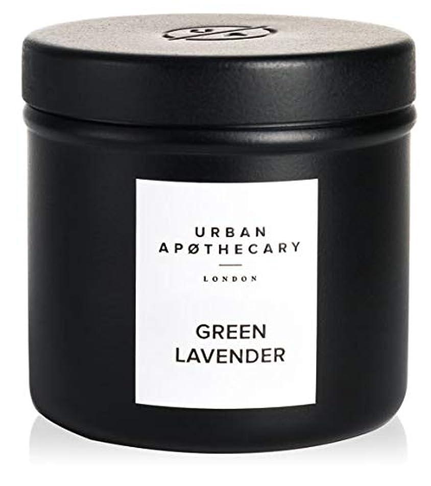 薄汚い傾いた肉腫URBAN APOTHECARY トラベルキャンドル GREEN LAVENDER 175g