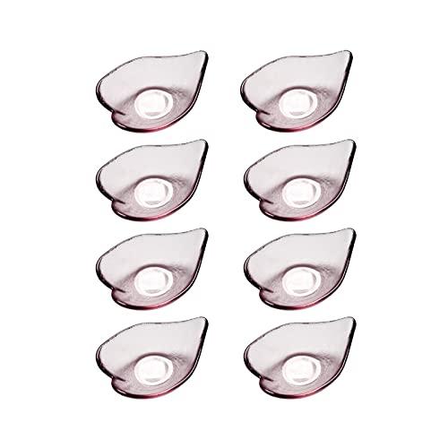 bellissimo Forma salsa piatto multiuso vetro laterale ciotola rosa elegante design design piatti di condimento di soia immersione salsa salsa di soia piatti per ketchup, snack di salsa di soia, fruits