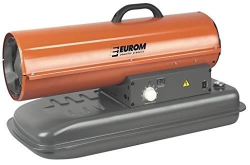 Eurom Fireball Verwarmingskanon, 20 kW, zaalverwarming met thermostaat en tankindicator, werkplaatsverwarming, bouwplaatsdroger, oliekachel