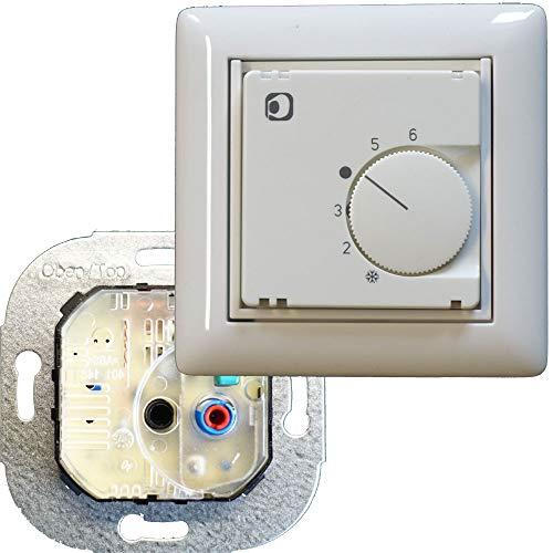 Regulador de temperatura ambiente 5,30 °C 1 abridor apto para Gira y Busch Jaeger
