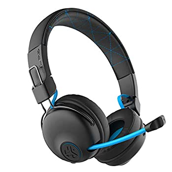 JLab Play Gaming Wireless Headset | 22+ Hour Bluetooth 5 Playtime 60ms Super-Low Latency for Mobile Gameplay | Retractable Boom Mic | AUX Gaming Cord Compatible with Gaming Consoles