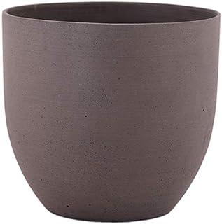 مزهرية حجر الرمل دائرية بني من ليتل جرين هاوس - مقاس متوسط