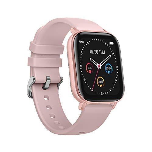 DCU TECNOLOGIC | Smartwatch | Reloj Inteligente | Pulsera de Actividad IP67 | Pulsómetro y Monitor de presión Arterial | Control del Ciclo Femenino | Multideporte (Rosa) miniatura