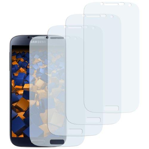 mumbi Schutzfolie kompatibel mit Samsung Galaxy S4 Folie klar, Displayschutzfolie (4X)