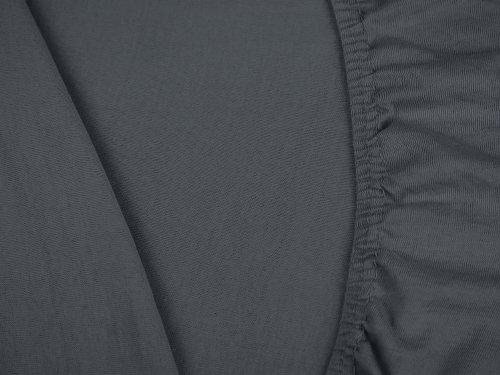 klassisches Jersey Spannbetttuch – erhältlich in 22 modernen Farben und 6 verschiedenen Größen – 100% Baumwolle, 70 x 140 cm, anthrazit - 5