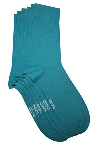 Weri Spezials Herren Socken 3-er Pack Blossom Petrol Gr. 43-46