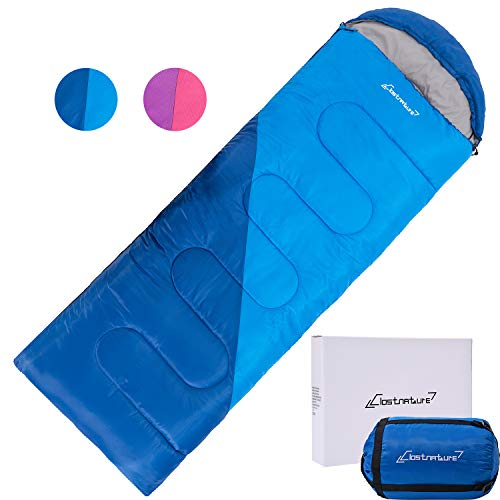Clostnature Sleeping Bag - Lightweight Waterproof Camping Sleeping Bag for Adults, Kids, Women, Men's Hiking, Outdoors, Mountaineering - Compression Sack Included