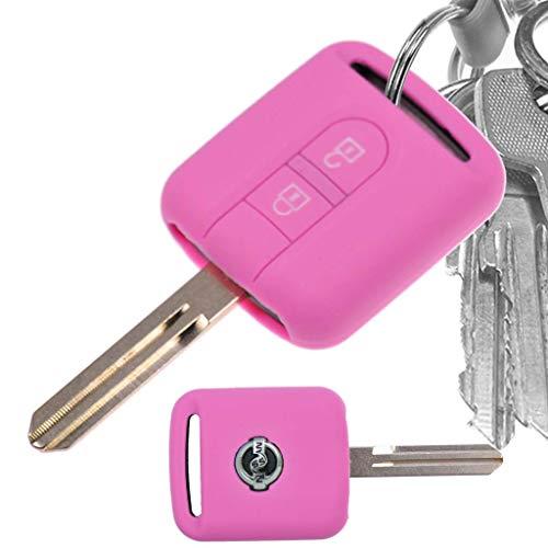 Auto Schlüssel Hülle Silikon Schutz Cover Rosa für Nissan Note Almera II X-Trail Qashqai Tiida Primera