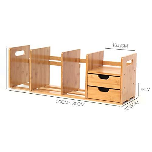 Desk Storage Organizer, uitbreidbaar met lades Multifunctioneel Aanrechtblad Display Planken voor Slaapkamer Study Office 80x18.5x20.5cm(31x7x8inch) B