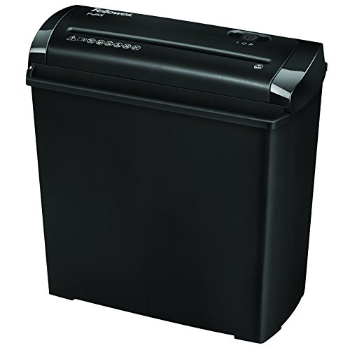 Fellowes P-25S - Destructora trituradora de papel, corte en tiras, destruye hasta 5...