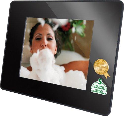 Rollei DF-80 Memories Digitaler Bilderrahmen ( 20,3 cm (8 Zoll) Display, Fernbedienung, SD Karte, USB 2.0) schwarz