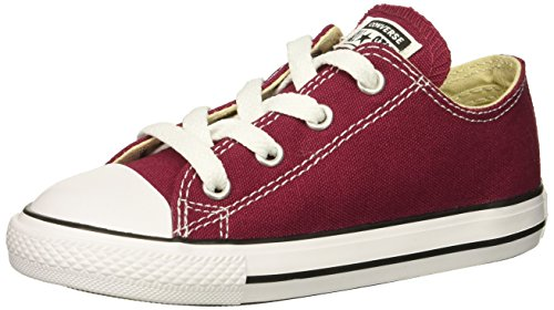 Converse Girl's Chuck Taylor All Star 2018 Seasonal Low Top Sneaker, Maroon, 2 M US Little Kid