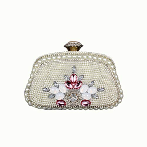 A-hyt diseño cómodo Señoras Bolsa de Banquete de Loca multifunción Moda (Color : Silver, Size : 19 * 17.5 * 11.5)