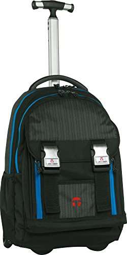 Take it Easy 491001 Madrid Rucksack Trolley Tweed Schwarz