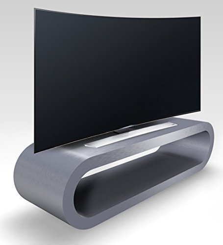 Zespoke Conception Cerceau Style Rétro Grand Meuble TV en Acier/Armoire 110cm Brossé