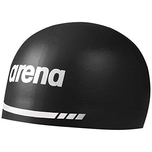 ARENA Unisex Jugend 3D Soft Schwimmhaube, Black, XL