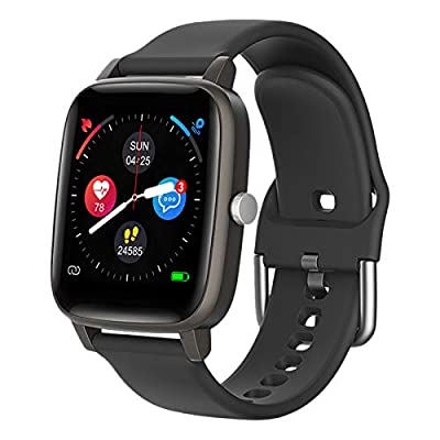 "Smart Watch for iPhone Android, LCW Fitness Tracker Health Watch w/Heart Rate Blood Oxygen Monitor, Body Temperature, 1.4"" Touch Screen Smartwatch, Sleep Step Tracker, IP67 Waterproof Fitness Watch"