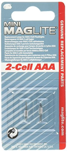Maglite Replacement Lamps for 2-Cell AAA Mini Flashlight, 2-Pack
