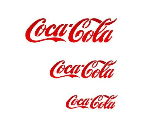J BOUTIQUE STENCILS Cocacola Stencil - Medium Size - Reusable Template for Crafting DIY Room Decor Wall Art Furniture