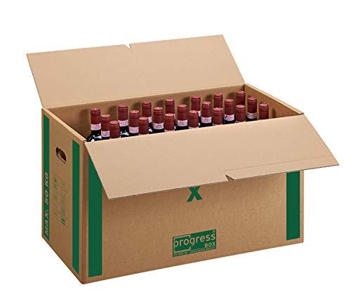 Umzugskarton 30 Stück PREMIUM selbstklebend, 2-wellig stabil bis 50 kg, XL 650x350x370 mm, movebox groß
