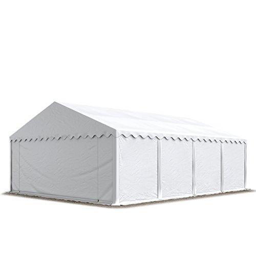 TOOLPORT Carpa de almacén 5x8m Carpa de pastoreo con Aprox. 500g/m² de Lona PVC Impermeable Blanca