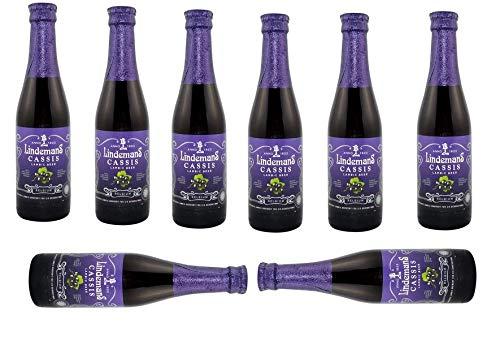 8 Flaschen Lindemans Cassis a 250ml 3,5% Vol. Lambic Beer mit Schwarzen Johannisbeer Saft inc. 0.48€ MEHRWEG Pfand
