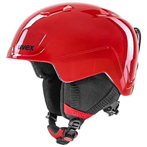 uvex Unisex Jugend heyya Skihelm, fire red, 51-55 cm