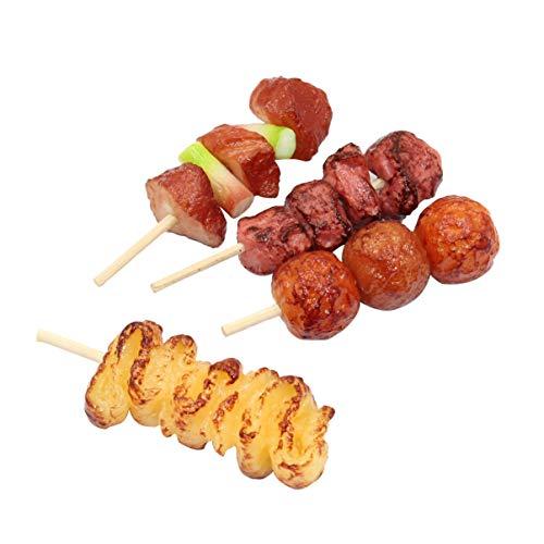 NUOBESTY 4Pcs Kinder Grill Spielzeug Realistische Grill Lebensmittel Kinder BBQ Grill Spielset für Dekoration Display Requisiten Kinder Pädagogisches Spielzeug