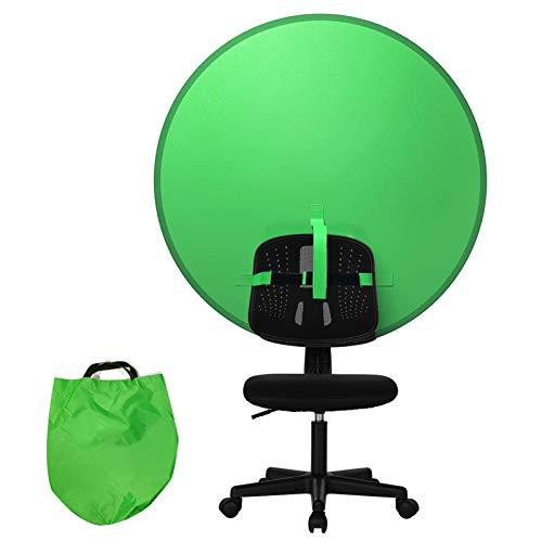 Fondo de Pantalla Verde,Chromakey Fondo de Pantalla Verde,Plegable Pantalla de Fondo,Verde Fondo Plegable Reversible,Chroma Key Portátil,Fondo de Pantalla Verde,Fondo de Pantalla Verde (Verde)