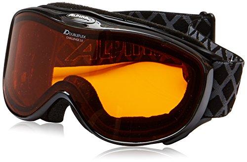 ALPINA CHALLENGE 2.0 D Skibrille, Unisex– Erwachsene, black transparent, one size