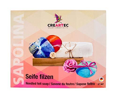 CREARTEC - Seifen Filzen Set - zur Herstellung fantastisch aussehender Filzseifen - Made in Germany