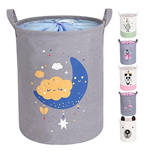 Miracle Baby Cesta de Tela Ropa Sucia,Cesta de Tela Impermeable Plegable.Cestos de lavanderíapara la Colada,Organizador Lavadero para Organizadoras Juguetes Ropa