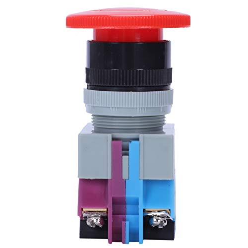 Fransande AC 600 V 10 A rojo seta pulsador de apagado de emergencia interruptor 22 mm NO NC